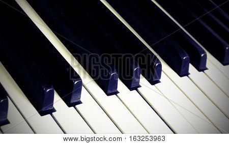 Piano Keyboard With Many Keys