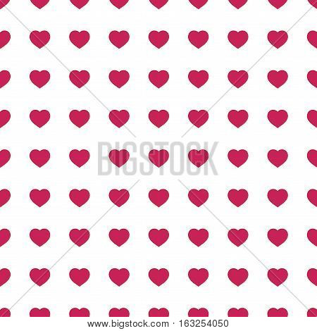 Heart red on white seamless pattern. Fashion graphic background design. Abstract texture. Colorful template for prints textiles wrapping wallpaper website etc. Vector illustration