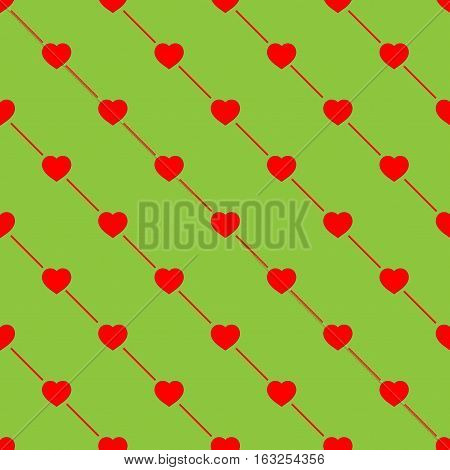 Heart on line seamless pattern. Fashion graphic background design. Abstract texture. Colorful template for prints textiles wrapping wallpaper website etc. Vector illustration