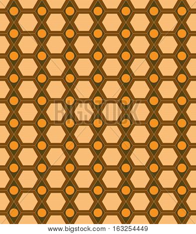 Honeycomb brown seamless pattern. Fashion graphic background design. Modern stylish abstract texture. Colorful template for prints textiles wrapping wallpaper website etc. Vector illustration