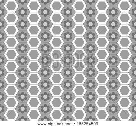 Honeycomb seamless pattern. Fashion graphic background design. Modern stylish abstract texture. Monochrome template for prints textiles wrapping wallpaper website etc. Vector illustration