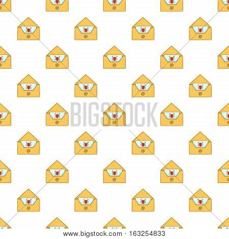 Virus in e-mail pattern. Cartoon illustration illustration of virus in e-mail vector pattern for web