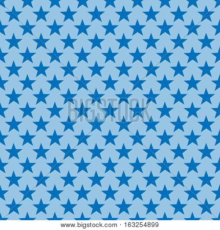 Star blue seamless pattern. Fashion graphic background design. Modern stylish abstract texture. Colorful template for prints textiles wrapping wallpaper website etc. Vector illustration