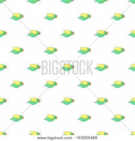 Cap without top pattern. Cartoon illustration of cap without top vector pattern for web