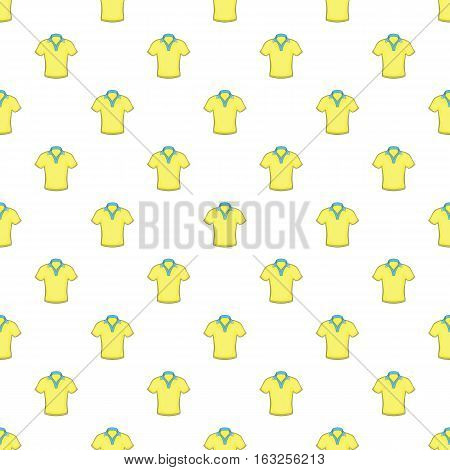 Men polo pattern. Cartoon illustration of men polo vector pattern for web