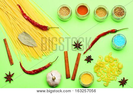 Spicy Fragrant Spices And Pasta