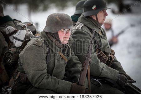 Reconstruction Of Combat Between Soviet And Nazi Troops