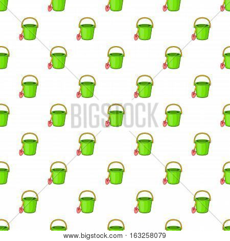 Childrens bucket with shovel pattern. Cartoon illustration of childrens bucket with shovel vector pattern for web
