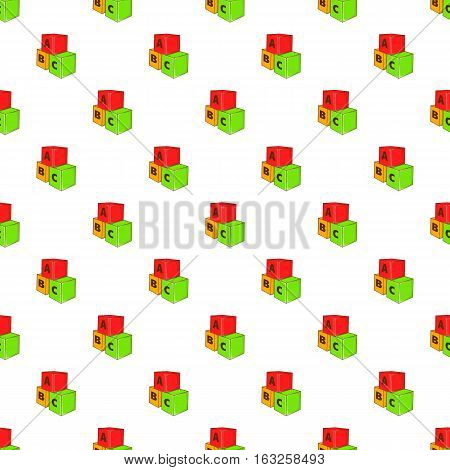 Baby cubes pattern. Cartoon illustration of baby cubes vector pattern for web