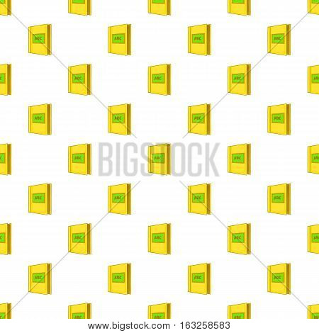 ABC book pattern. Cartoon illustration of ABC book vector pattern for web
