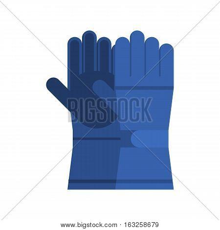 Snowboarding glove pair. Winter sport gloves. Hand protection wear.