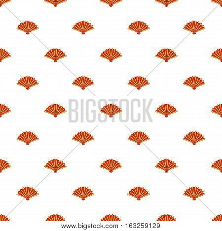 Fan pattern. Cartoon illustration of fan vector pattern for web