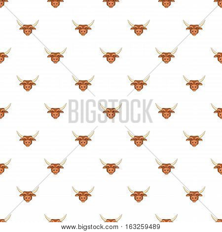 Bull head pattern. Cartoon illustration of bull head vector pattern for web
