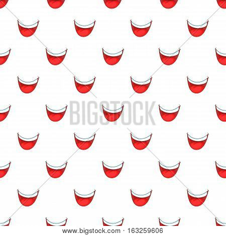 Mouth clown pattern. Cartoon illustration of mouth clown vector pattern for web