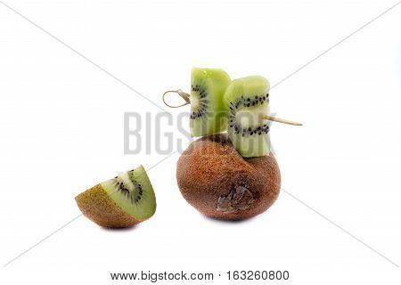 kiwi fruit isolated, kiwi, macro, natural, tropica