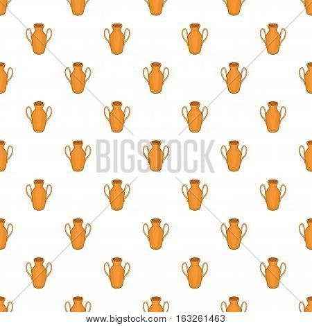 Ancient vase pattern. Cartoon illustration of ancient vase vector pattern for web