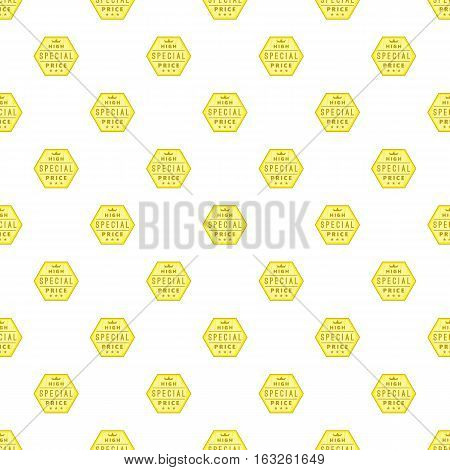 Label premium quality pattern. Cartoon illustration of label premium quality vector pattern for web