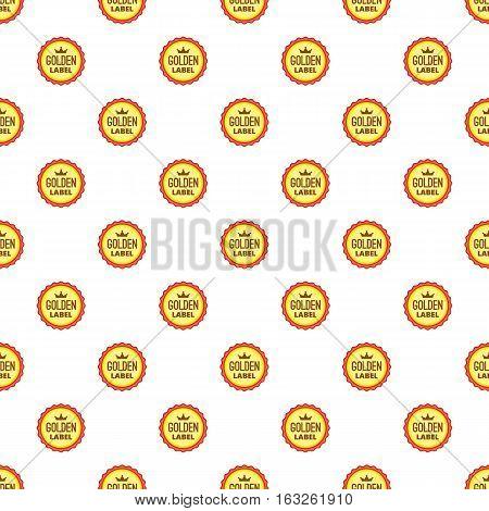 Label best offer pattern. Cartoon illustration of label best offer vector pattern for web