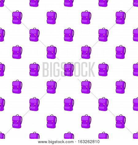 School backpack pattern. Cartoon illustration of school backpack vector pattern for web