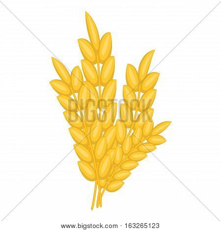 Bunch of wheat icon. Cartoon illustration of bunch of wheat vector icon for web design