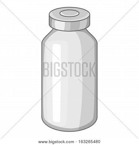Glass medicine bottle icon. Cartoon illustration of glass medicine bottle vector icon for web design