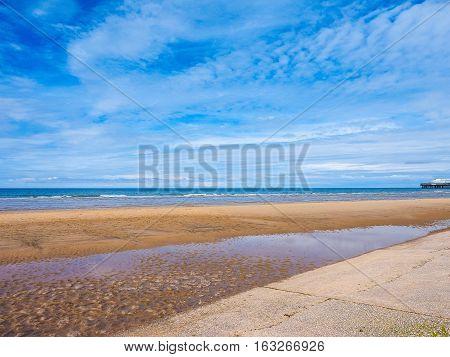 Blackpool Pleasure Beach on the Fylde coast in Blackpool Lancashire UK (HDR) poster