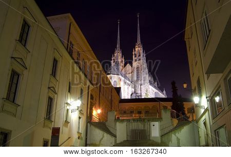 Brno city - Petrov. Saint Peter and Paul cathedral (Petrov). Central Europe - Czech Republic.