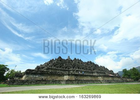 Borobudur Temple is located at Central Java, Magelang Regency, Indonesia.