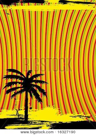 retro vector palm tree background
