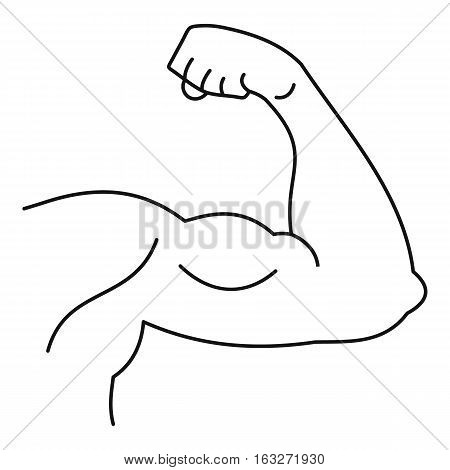 Strong hand muscle icon. Outline illustration of strong hand muscle vector icon for web
