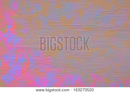 Vivid  painting closeup texture background with  pink, gold and different  vivid  vibrant colorful creative patterns