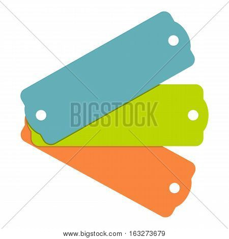 Blank tag labels icon. Flat illustration of blank tag labels vector icon for web