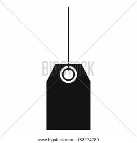 Blank black tag icon. Simple illustration of blank black tag vector icon for web