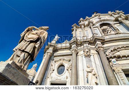 Cathedral of Santa Agatha - Catania duomo in Catania, Sicily, Italy.