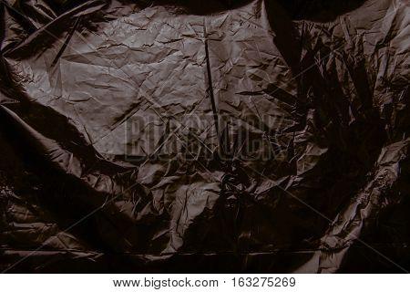 Crumpled Plastic Film Texture