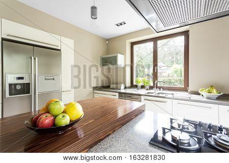 Two Door Refrigerator In Kitchen