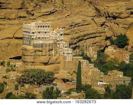 Wadi Dahr summer residence of imam Yahya Yemen