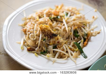 Pad Thai stir-fried rice noodles is one of Thailand's national main dish