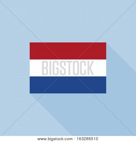 Netherlands flag , flat design vector with official proportion