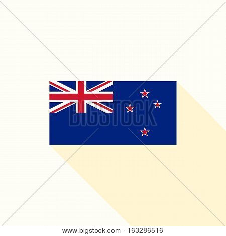 New Zealand flag , flat design vector with official proportion