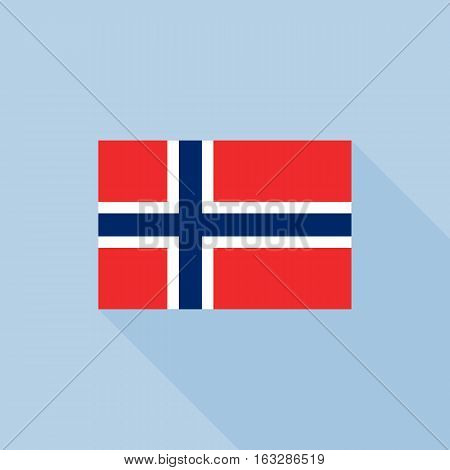 Norway flag , flat design vector with official proportion
