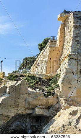 City Wall Of  La Valetta, Malta