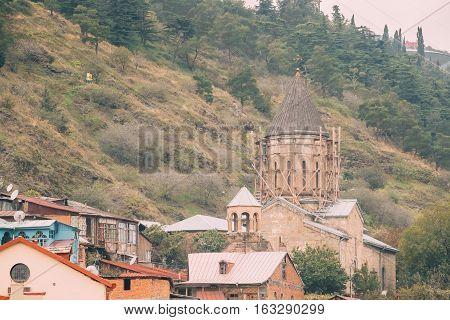 Holy Mother of God Church of Bethlehem - Upper Bethlehem Church in Tbilisi, Georgia. Built as Armenian church in 18th century, on site of an older church, it now operates as a Georgian orthodox church