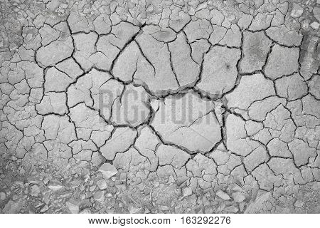 Cracked Ground That Caused By Global Warming.