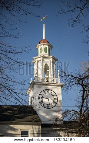 Church Bell Tower in Kennebunkport, Maine, USA