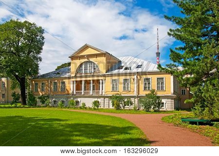 SAINT-PETERSBURG, RUSSIA, AUGUST 3, 2016: Laboratory of General Geobotany in Peter the Great Botanical Garden (Botanic Gardens of the Komarov Botanical Institute)