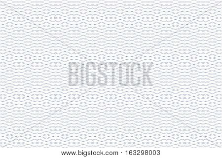 Guilloche seamless background. Monochrome guilloche texture with zigzag. For certificate voucher banknote money design currency note check ticket reward etc poster
