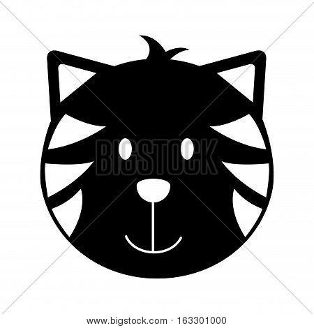 cat head mascot isolated icon vector illustration design