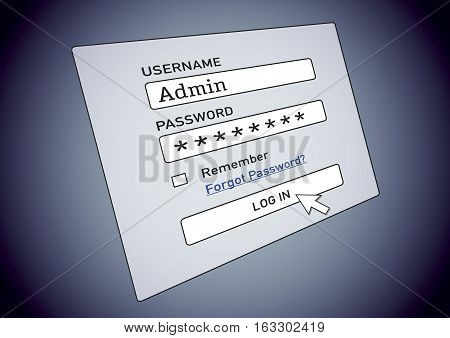 Cybersecurity Username And Password To Log In The Account