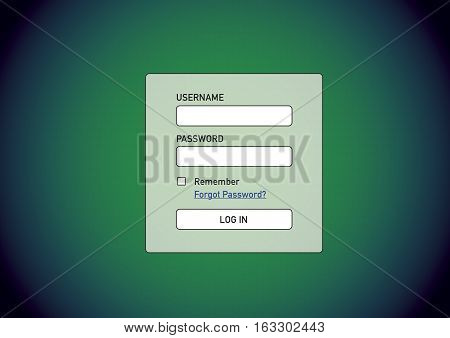 Login Screen Awaiting For Username And Password